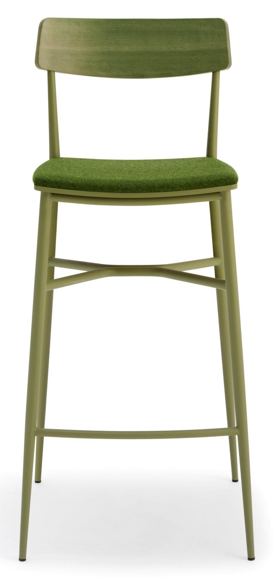 Naika High Stool Upholstered Telegraph Contract Furniture