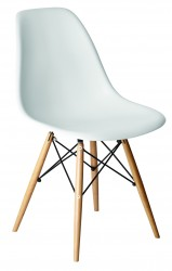 Alice side chair white with natural legs