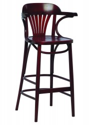 Swanson embossed veneer seat highstool