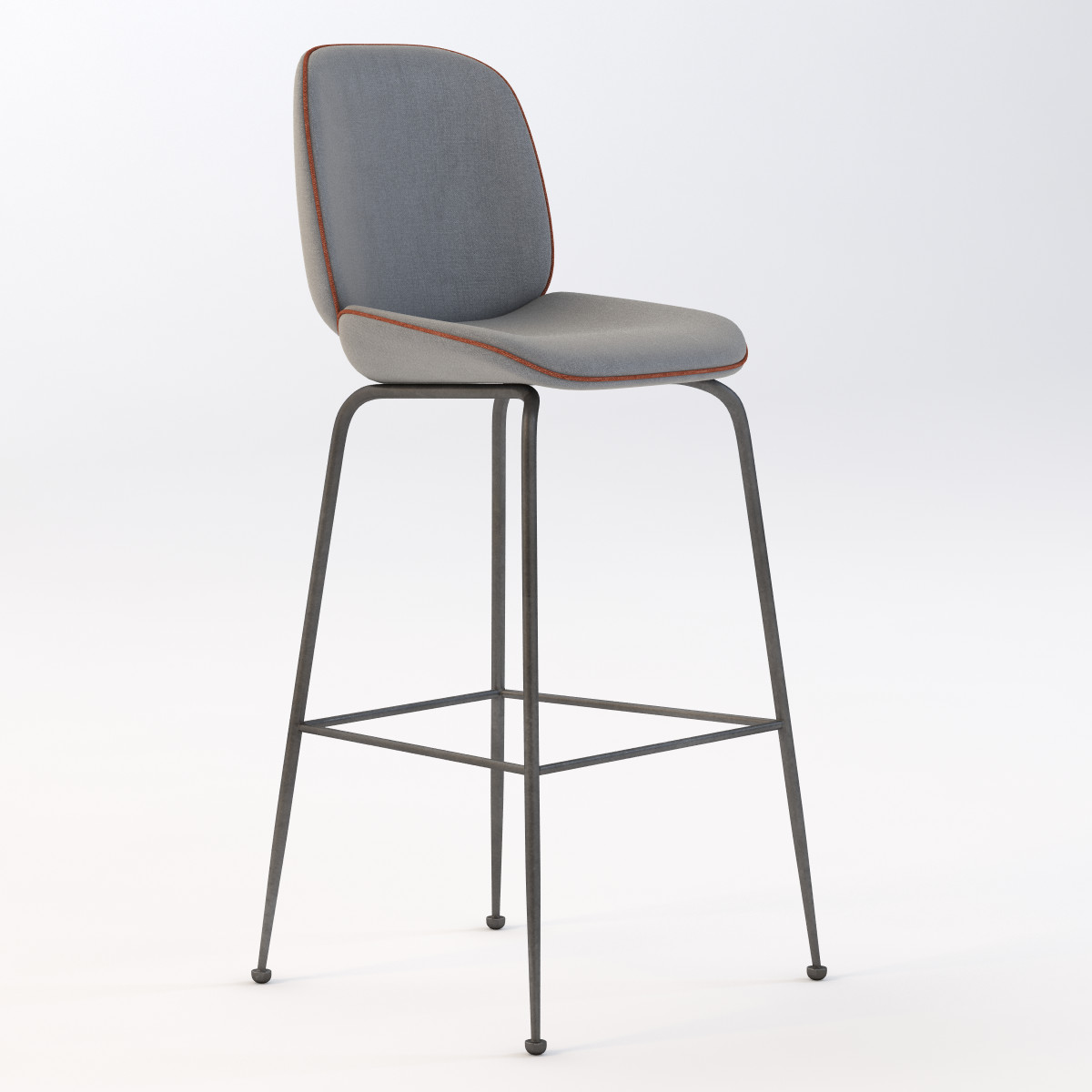 Beetle High Stool Upholstered Telegraph Contract Furniture