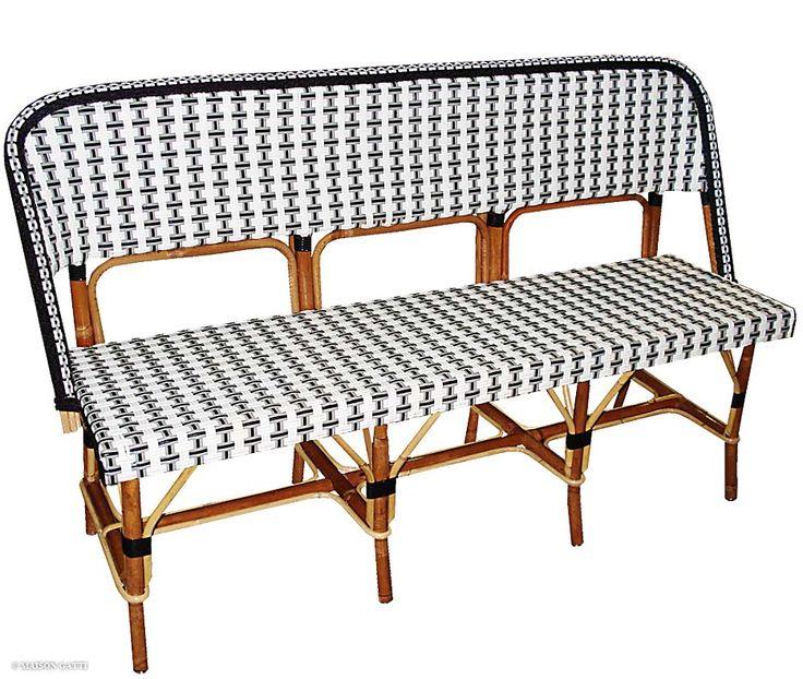 bistro rattan bench telegraph contract furniture