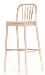 Aldgate high stool, beech, raw