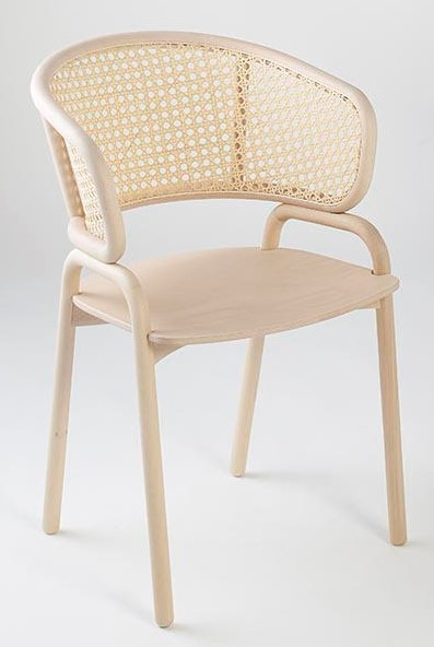 The Frantz Armchair Is Made From A Bentwood Frame. Wooden Seat With A Cane  Or Mesh Back.