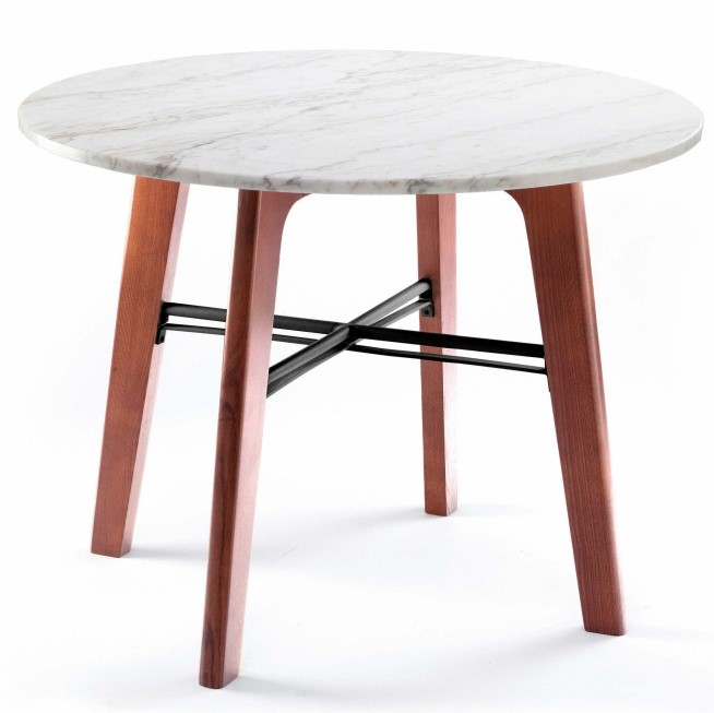Very Elegant Marble Top Dining Table The Mambo Flex Dining Table features solid wood feet and lacquered metal  fittings. Completed with Marble Top gives very elegant look.