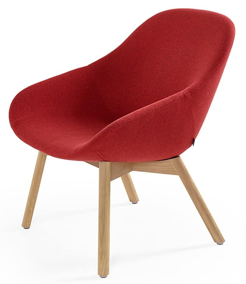 Beso lounge chair wooden telegraph contract furniture