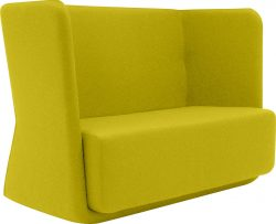 Modular sofa / contemporary / highback / with removable cover