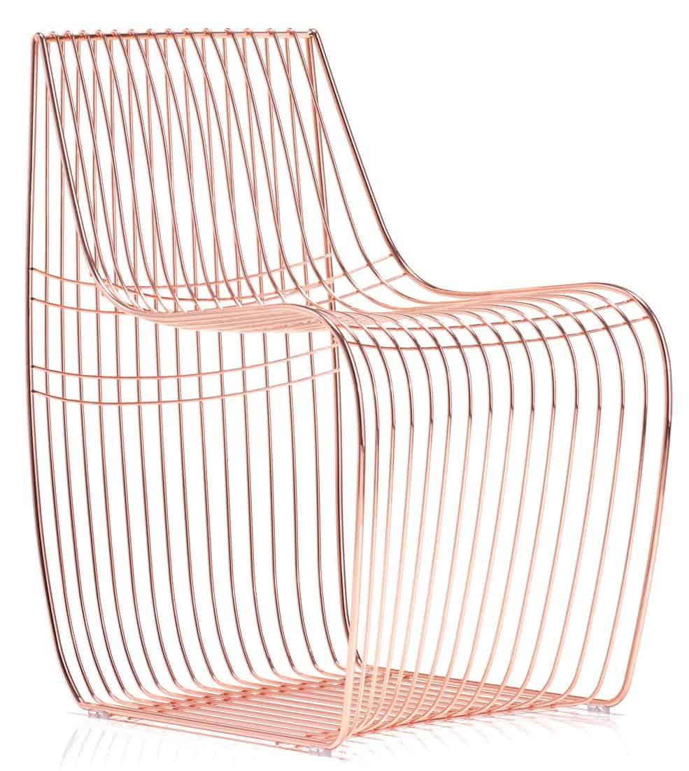 wire furniture. The Sign Side Chair Feature Steel Wire Frame. It Is Available In Gold Chrome, Pink Chrome Or Black Finish. Seat Cushion Optional But Extra. Furniture