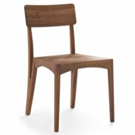 Moraar contract furniture side chair, wood frame with four legs