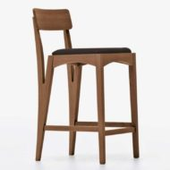Moraar contract furniture high stool wood frame with four legs and padded seat