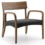 Moraar contract furniture lounge chair, wood frame with four legs