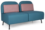 B connect Lounge Double Contract Furniture with Metal Legs